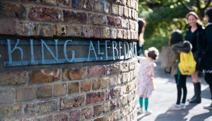 King Alfred School Entrance - Wallpaper
