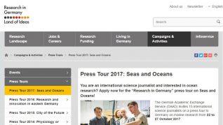 Press Tour 2017 - Seas and Oceans