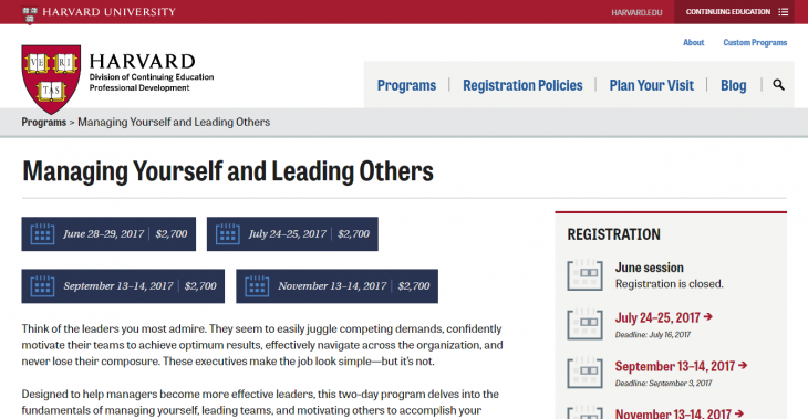 Managing Yourself and Leading Others - Harvard