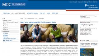 The Max-Delbrück Center for Molecular Medicine International PhD Program