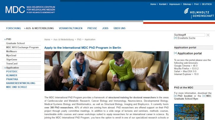 The Max-Delbrück Center for Molecular Medicine International PhD Program