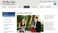 Harvard University Center for Italian Renaissance Studies Graduate Fellowship
