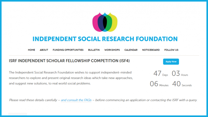 Independent Scholar Fellowship Competition Accepting Applications