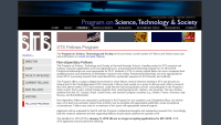 Harvard University's Program on Science, Technology and Society Seeks Fellowship Applicants
