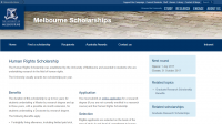 University of Melbourne Human Rights Scholarship