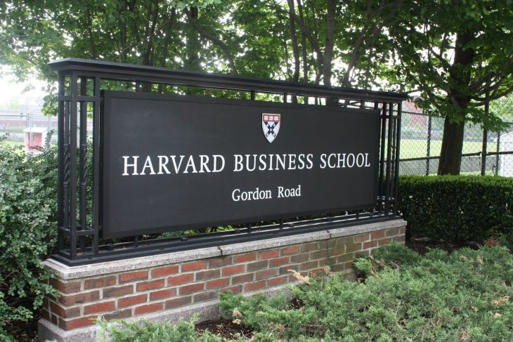 Harvard Business School - Outside Stone - Gordon Road