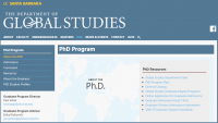 PhD Program in Global Studies, University of California, Santa Barbara