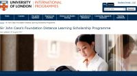 Sir John Cass's Foundation Distance Learning Scholarship Programme