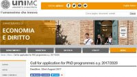 University of Macerata PhD in Quantitative Methods for Economic Policy
