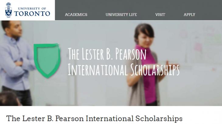 The Lester B Pearson International Scholarship Program