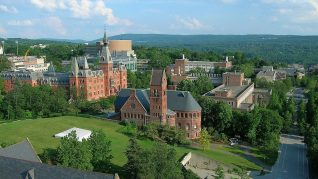 Cornell University - Ho Plaza and Sage Hall