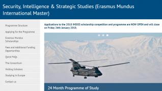 Erasmus Mundus Scholarship in Security Intelligence and Strategic Studies