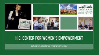 Hillary Clinton Center for Women's Empowerment Scholar in Residence Program