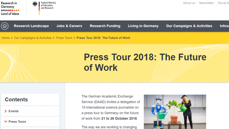 Press Tour 2018 The Future of Work
