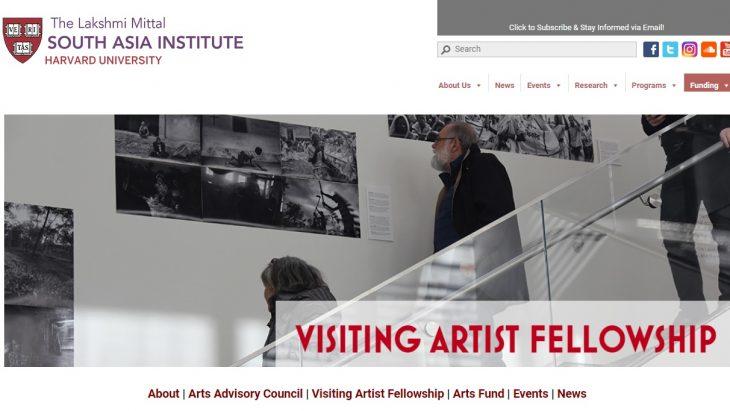 Visiting Artist Fellowship at Harvard University 2018