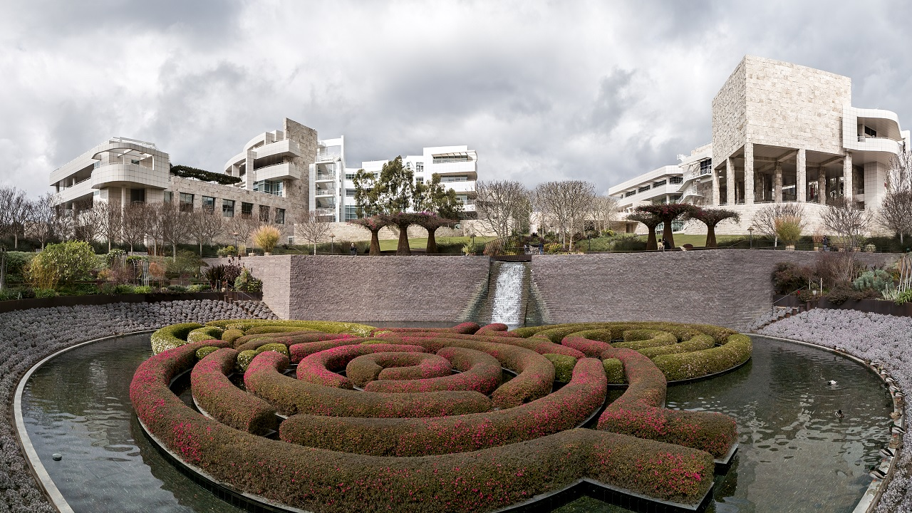 The Getty Center from the Central Garden