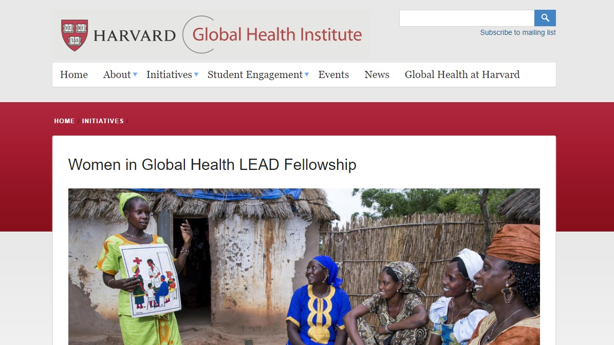 Women in Global Health LEAD Fellowship